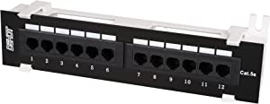 Dshot12 Port UTP 10 inch Cat5e Network Wall Mount Surface Patch Panel