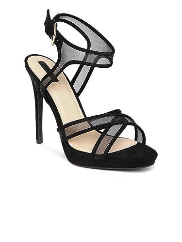 3c04474c3f3 FOREVER 21 Black Mesh Stilettos (3.5UK): Buy Online at Low Prices in ...