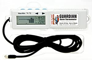 Guardian Alarm Thermometer Scroll back in time to see temperature changes by the Day, Hour or Minute.