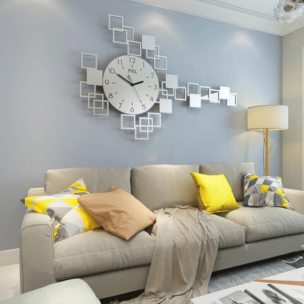 WTL ウォールクロック 現代パーソナリティシンプルなファッション時計の壁時計居間ヨーロッパのクリエイティブ静かな雰囲気の装飾時計 (色 : A, サイズ さいず : L l) B07FL2ZFJ5 L l A A L l