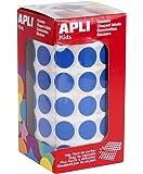 APLI Rouleau de 2832 Gommettes Rondes 15 mm Bleu