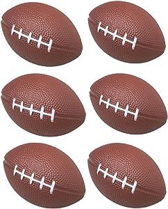 GIFTEXPRESS 1 Dozen Foam Mini Football Stress Balls, Mini Sport Balls, Superbowl Decoration Party Favor, Football Themed Party Supplies and Giveaways (Football)