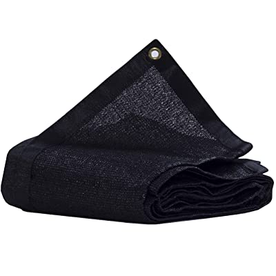 JTsuncover- 90% Heavy Duty Shade Cloth Mesh Sun Block Fabric - with Grommets -Black 12 ft x 6 ft : Garden & Outdoor