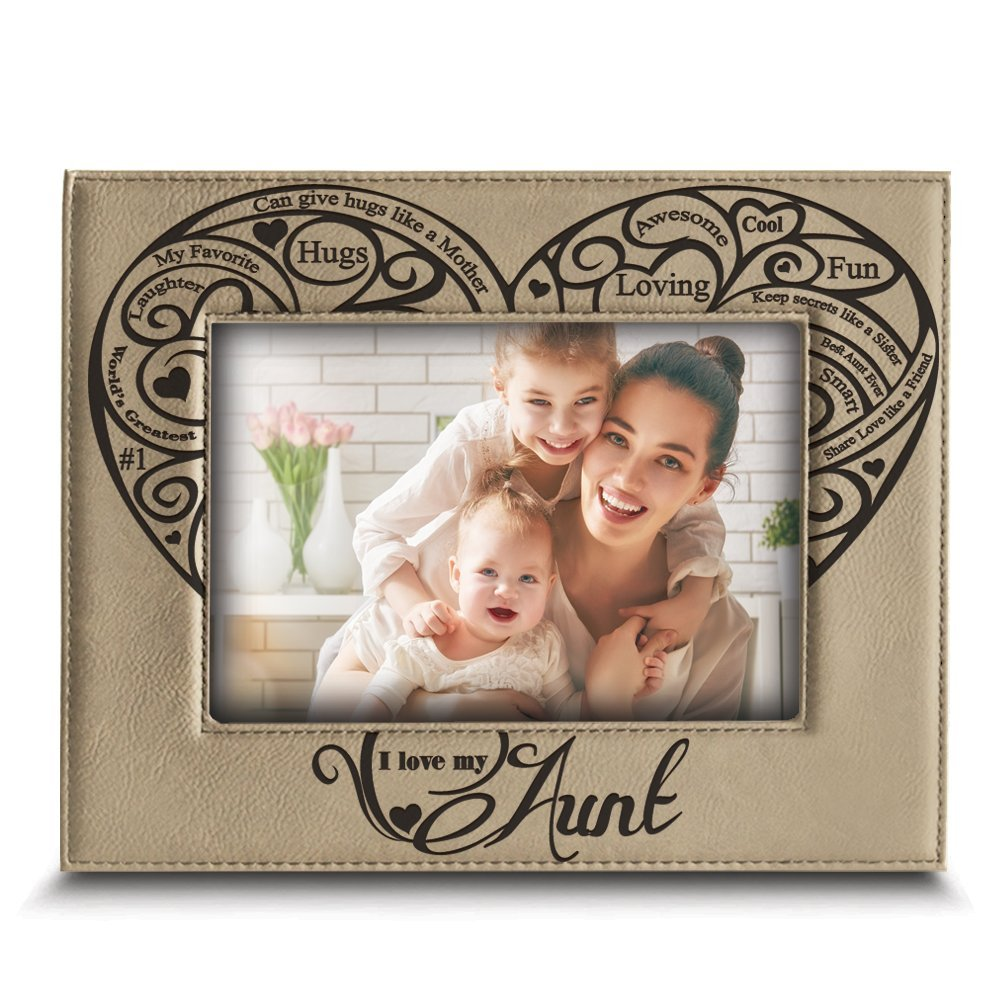 Amazoncom Bella Busta I Love My Aunt Engraved Leather Picture
