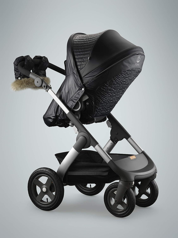 Stokke Winter Kit Für Kinderwagen Kinderwagen Winterzubehör Mit Handschuhen Farbe Schwarz Baby