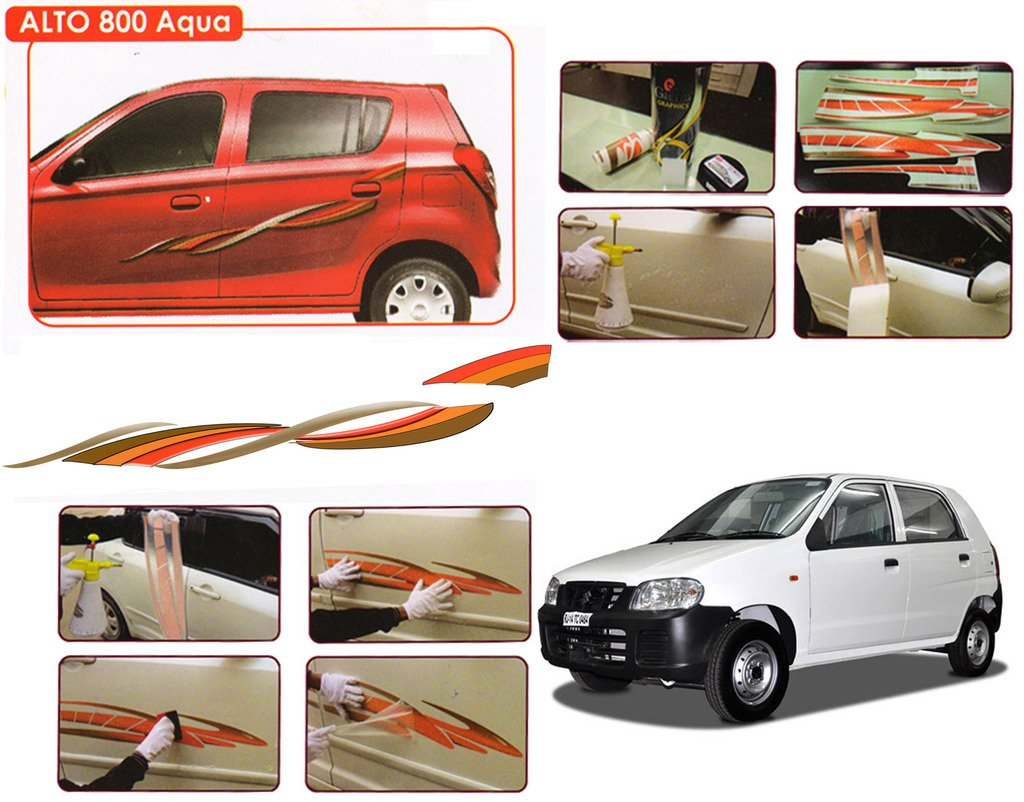 Auto pearl o e type fitment car graphics for maruti alto 800 amazon in car motorbike