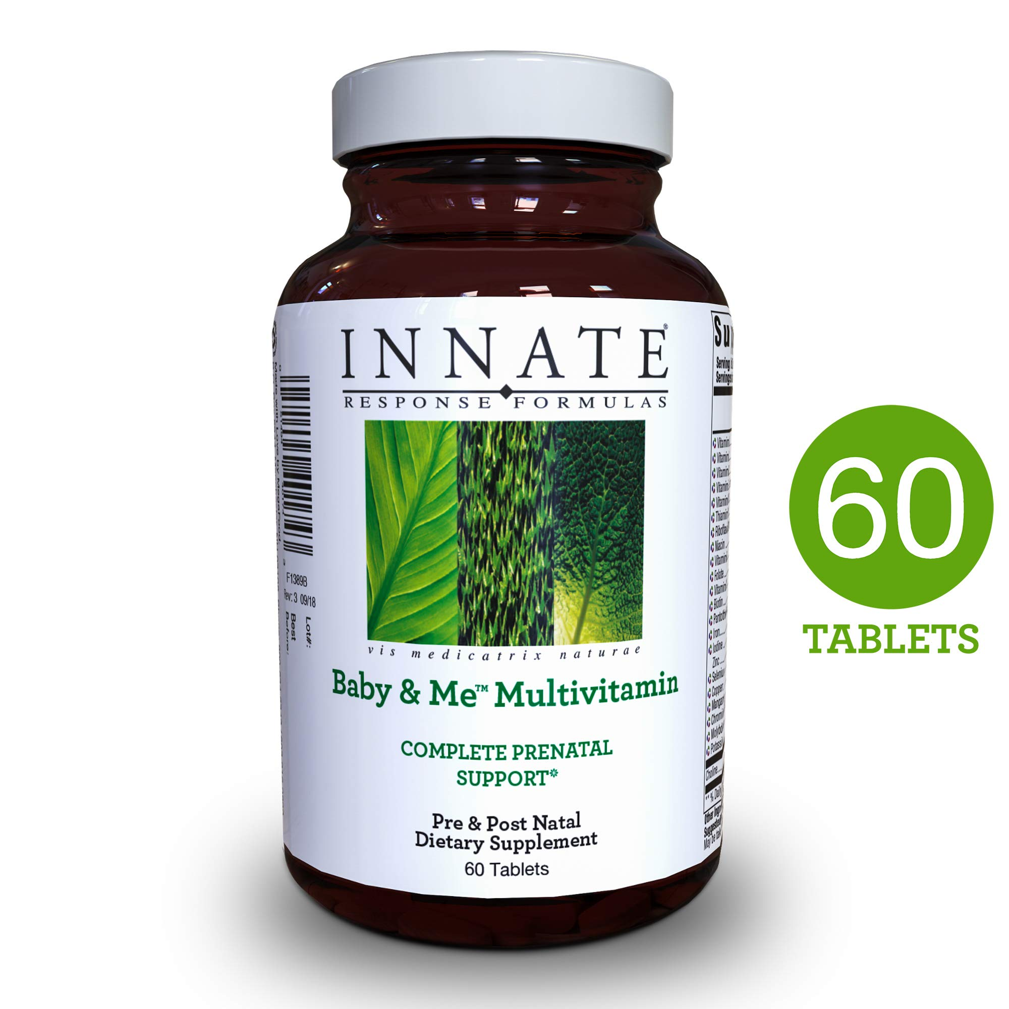 INNATE Response Formulas - Baby & Me Multi, Prenatal & Postnatal Support for Mother & Baby with Folate, 60 Tablets