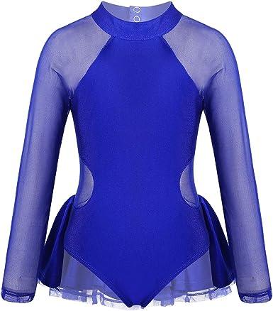CHICTRY Vestido de Patinaje Artistico Maillot de Danza Ballet ...