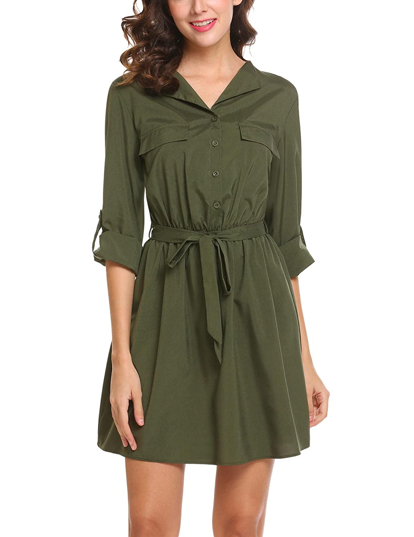 a42532d6434 Top 10 wholesale Shirt Dress With Belt - Chinabrands.com
