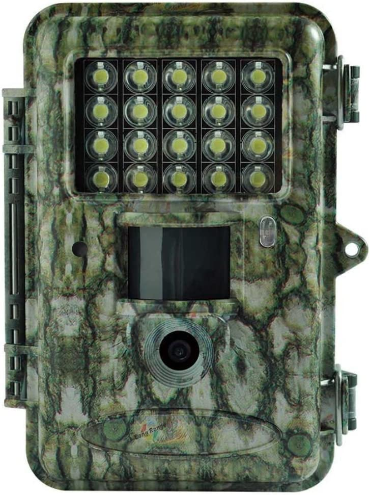 "Boly Trail Camera 18MP 1080P Video with 2"" LCD and White LED Flash up to 100ft. Detection and Lighting Range Security Cam and an Adjustable Sensitivity Outdoor Wildlife Hunting Camera Waterproof"