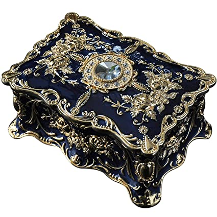Classical Royal Court Style Double Compartment Jewelry Box Exquisite Home Decor With Efficient Trinket Classification Function