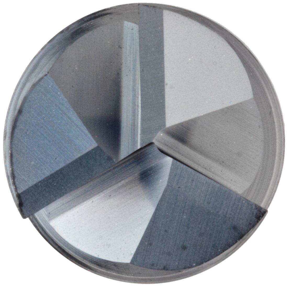 4 Overall Length 1 Cutting Diameter AlTiN Monolayer Finish 3 Flutes 1 Shank Diameter Finishing Cut Melin Tool EMG60 Carbide Square Nose End Mill 60 Deg Helix