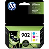 HP 902 Cyan, Magenta & Yellow Original Ink Cartridges, 3 pack (T0A38AN)