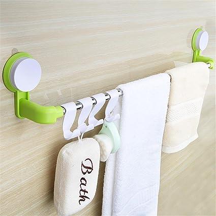 xiuxiandianju Barra de toalla de los muebles de cocina Soportes para toallas Carriles Estantes Estantes para