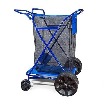 Carro de Carga de Playa de Lujo con Ruedas Anchas, Capacidad de 90 kg: Amazon.es: Oficina y papelería