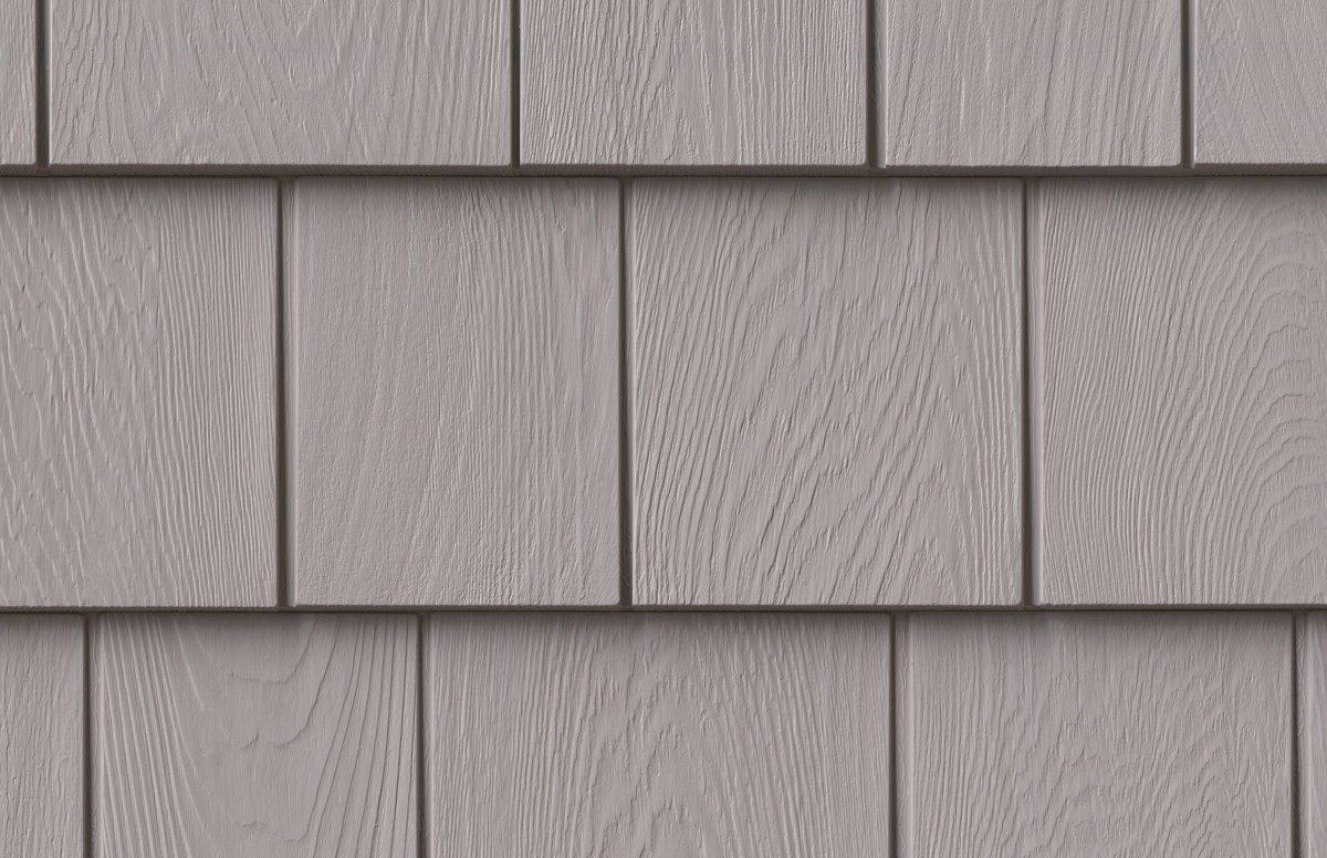 Grayne 7.5'' Red Cedar Shingle 455 Heritage Grey Rigid PVC Shingle Panel