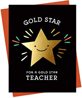 product image for Night Owl Paper Goods Star Teacher Appreciation Card, Gold Foil