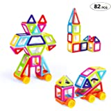Theefun TY01 82 Pieces Mini Blocks Set for Kids, Magnetic Tiles 3D Educational Building Construction Toys for Boys and Girls