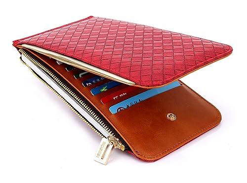 17171e71a4f8d Keshi Pu Cool geldbörse damen lang Rot  Amazon.de  Schuhe   Handtaschen