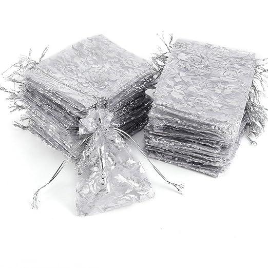 100 piezas bolsitas de Organza bolsa de regalo bolsas de ...