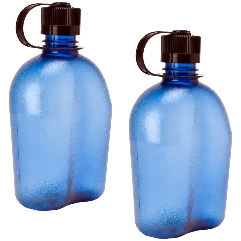7717d9d8c08a Amazon.com : Nalgene Oasis 1qt Canteen Bottle - 2 Pack (Blue) : Sports &  Outdoors