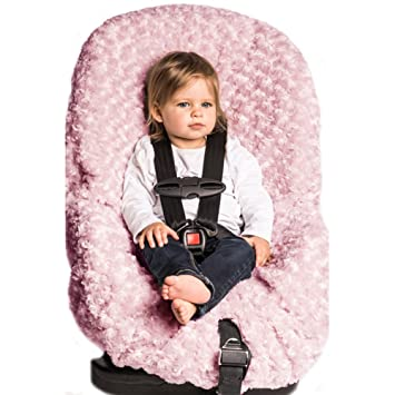 Blankets And Beyond Rosette Baby Car Seat Cover Pink
