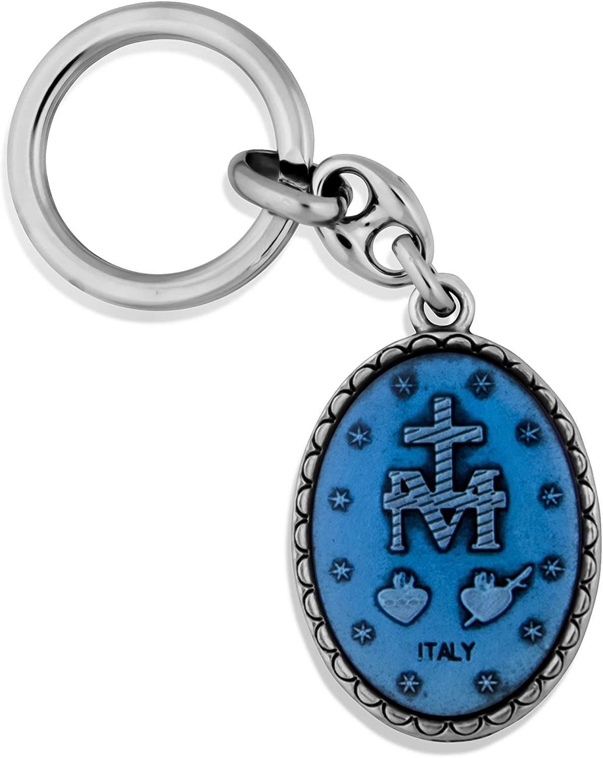 Saint Christopher Saint Key Chain with 1 3//4 Fob by Venerare