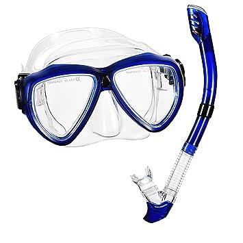 Gafas de Snorkel con Tubo de OMORC, Seco superior Snorkel kit con Visión de 180