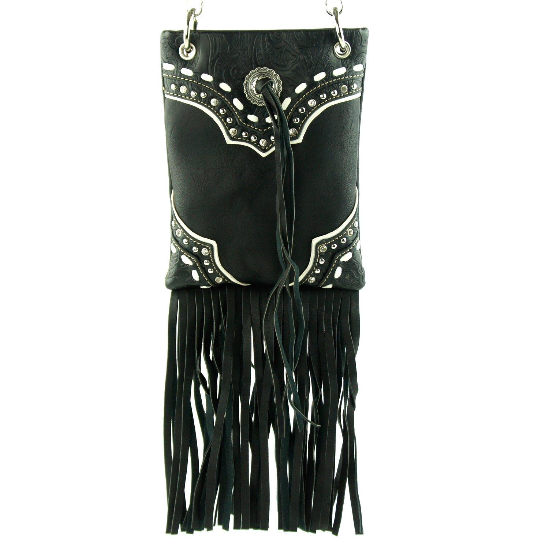 13c46d1eeb6d Amazon.com: Metal Beads Fringe Tassel Crossbody Mini Messenger Bag ...