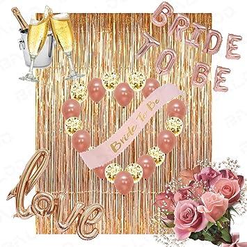 Amazon Rose Gold Bridal Shower Decorations 36pcs Bachelorette
