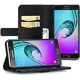 EasyAcc Custodia per Samsung Galaxy A3 2016, Wallet Case Flip Cover Per Samsung Galaxy A3 2016 4.7'' Housse - Nero