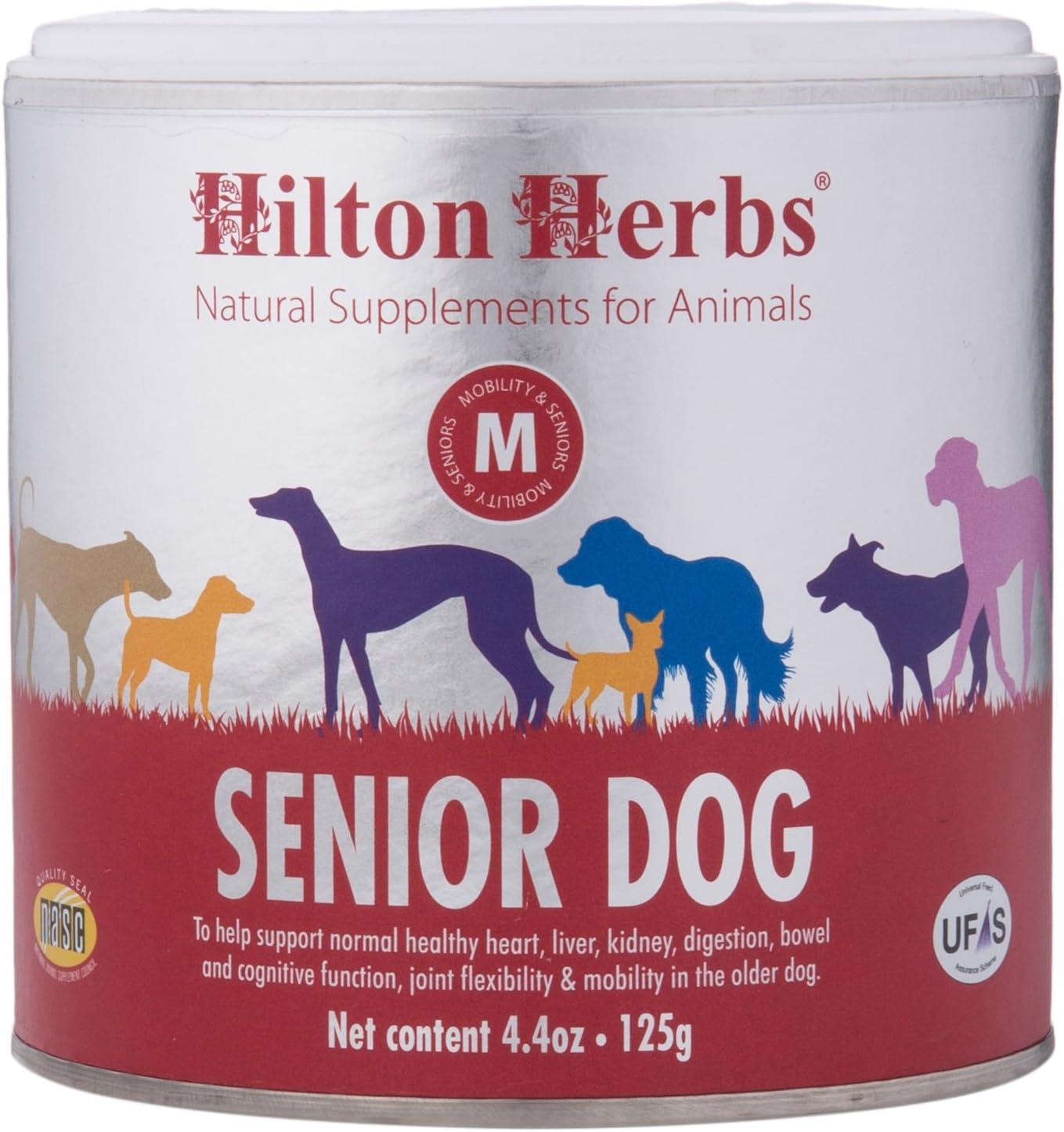 Hilton Herbs Senior Dog Optimum Health Supplement for Older Dogs, 4.4 oz Tub