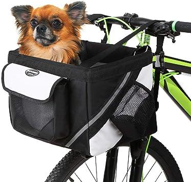 WLDOCA Cesto de Bicicleta de Manillar Delantero para Perro ...