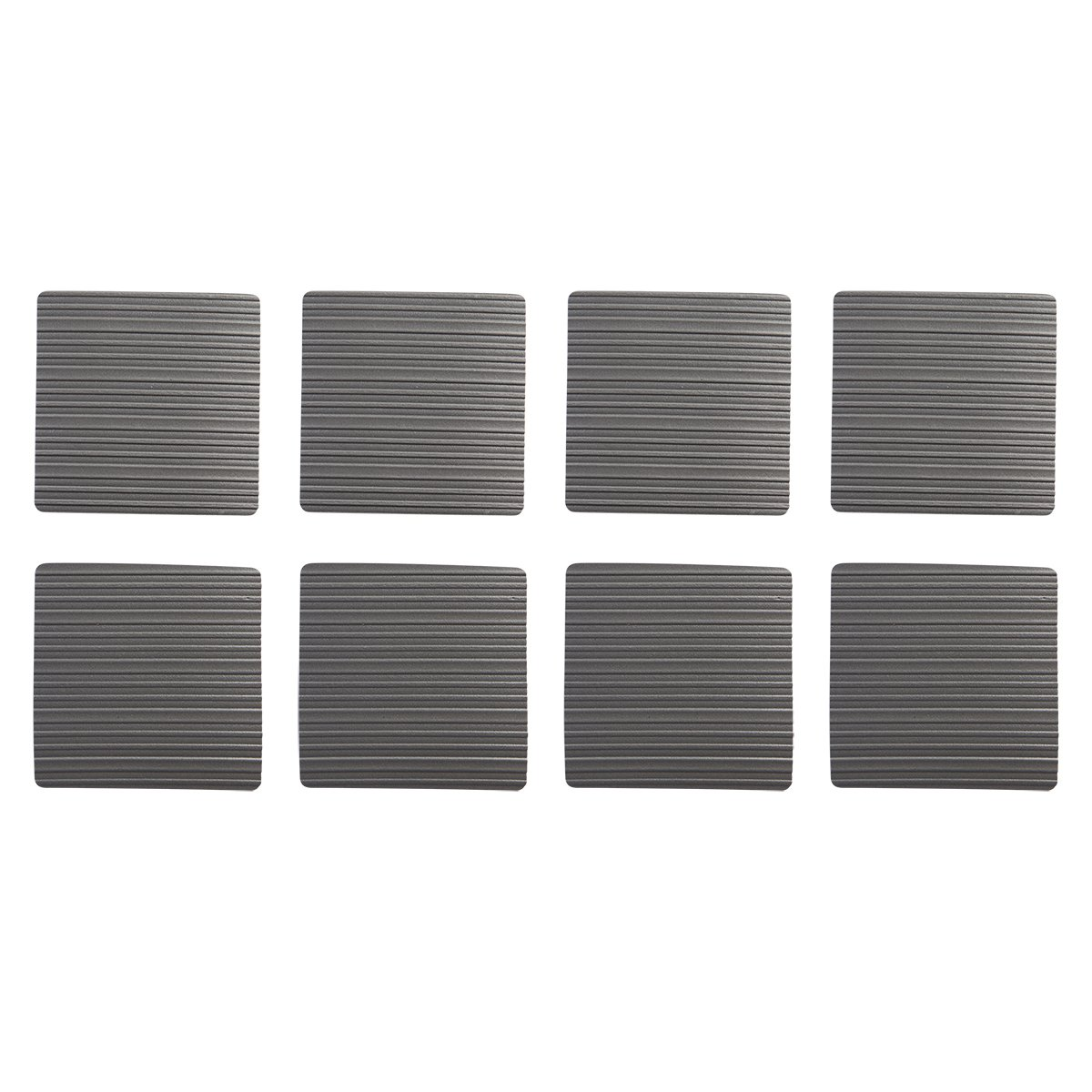 Stay! Furniture Pads, Square Furniture Grippers, Gripper Pads, Furniture Pads for Hardwood Floors and Carpet, Anti-Slip | Square, Gray, Set of 8 (6'') by Stay Furniture Grippers (Image #1)