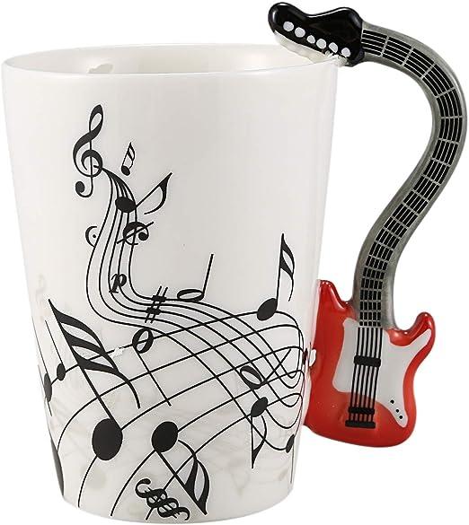 SODIAL Estilo De Música Creativa Guitarra Taza De Cerámica Café Té ...