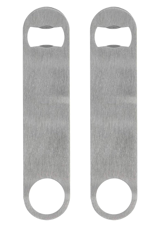 KISEER Stainless Steel Flat Bottle Opener, 2 Pack Heavy Duty Beer Bottle Opener for Kitchen, Bar or Restaurant