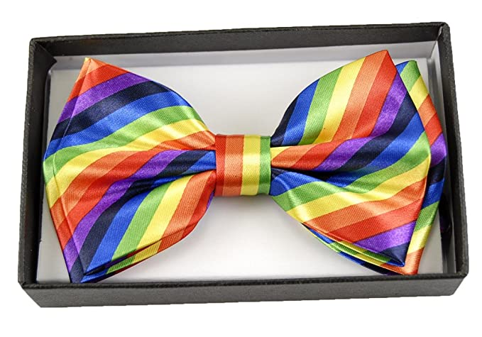 "Mens Unisex Wedding Party Tuxedo Bowtie ""Rainbow"" Dress Bowtie"