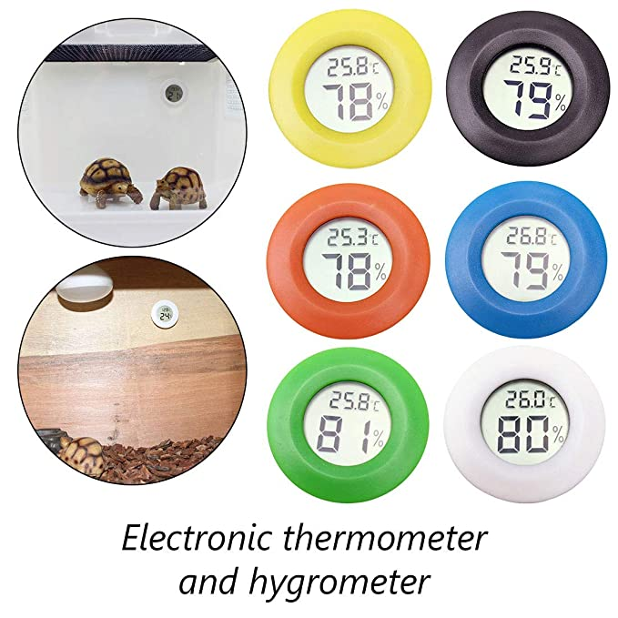 Mini termómetro digital LCD redondo higrómetro para frigorífico ...