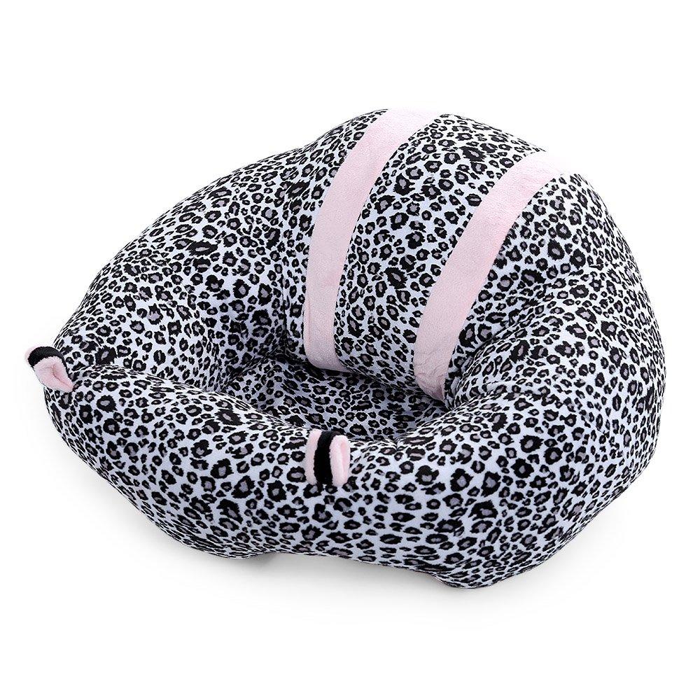 Robolife Cute Portable Soft Sofa Floor Seat Cushion Plush Toy for Kids (Leopard)