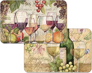 Counterart Reversible Set of 4 Wipe Clean Placemats Wine Country