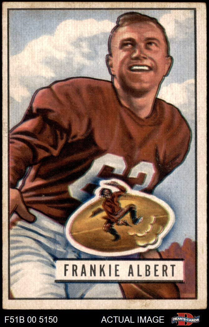 1951 Bowman # 103 Frankie Albert San Francisco 49ers (Football Card) Dean's Cards 4 - VG/EX 49ers Stanford 714zkrR8LEL