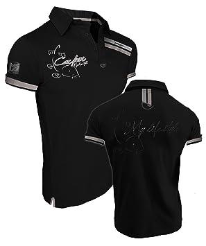 """schwarz Karpfenfischer Polo My lifestyle Hotspot Design Poloshirt /""""Carper/"""""""