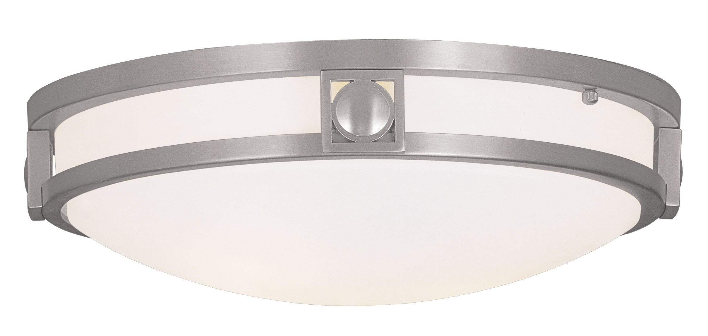 Livex Lighting 4487-91 Titania 2-Light Ceiling Mount, Brushed Nickel by Livex Lighting
