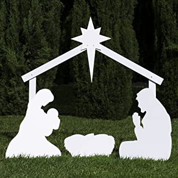 Amazon.com: Outdoor Nativity Store Silhouette Outdoor Nativity Set ...