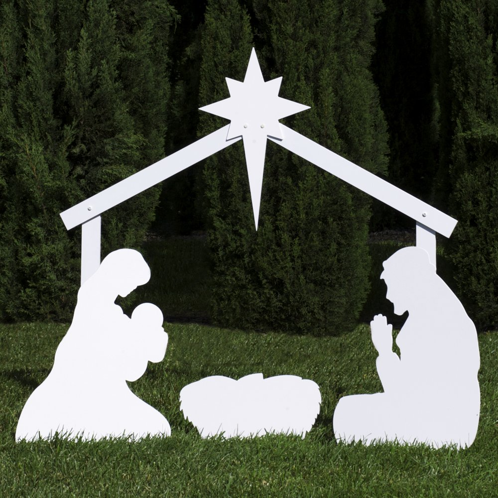 Outdoor Nativity Store Holy Family Outdoor Nativity Set (Standard, White) by Outdoor Nativity Store