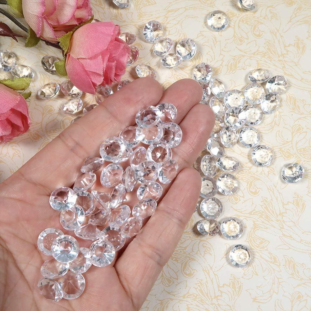 TOAOB 1000 Pezzi Cristalli Decorativi Dispersione 10 mm Trasparente Diamante Acrilico Coriandoli per Vasi Riempitivi Matrimonio Feste Compleanni Artigianato Decorazioni Tavoli