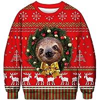 UreeUine Ugly Christmas Sweater Crewneck Pullover Holiday Party Sweatshirt