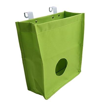 ODN dispensador de soporte de bolsa de basura organizador lienzo bolsa de la compra y bolsas
