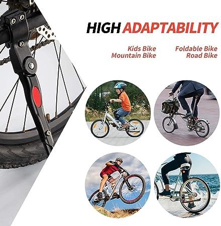 Aleaci/ón de Aluminio de la Bici Pata de Cabra Soporte de Altura Ajustable Lateral de Bicicletas tr/ípode del Soporte para Bicicleta de Carretera de