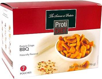 Amazon Com Protidiet Protein Crisps 7 Pouches Net Wt 8 1 Oz Bbq